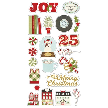 Simple Stories CLASSIC CHRISTMAS 6 x 12 Chipboard Stickers 7328