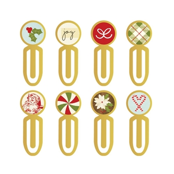 Simple Stories CLASSIC CHRISTMAS Epoxy Metal Clips 7343