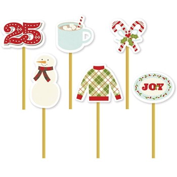 Simple Stories CLASSIC CHRISTMAS Decorative Clips 7344