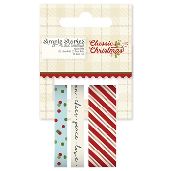 Simple Stories CLASSIC CHRISTMAS Washi Tape 7342