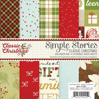Simple Stories CLASSIC CHRISTMAS 6 x 6 Paper Pad 7322