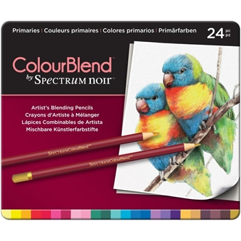 Crafter's Companion PRIMARIES Spectrum Noir ColourBlend Pencils SPECCBPRI24