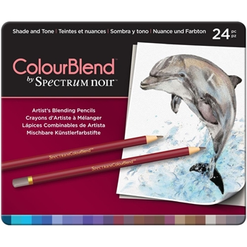 Crafter's Companion SHADE AND TONE Spectrum Noir ColourBlend Pencils SPECCBSHA24