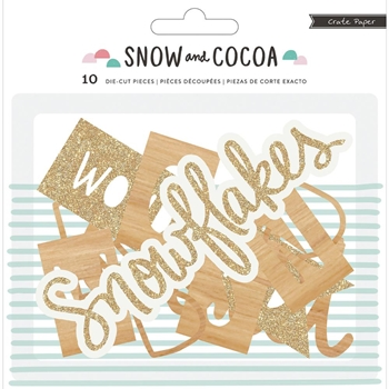 Crate Paper SNOW AND COCOA Wood Veneer Shapes 375894