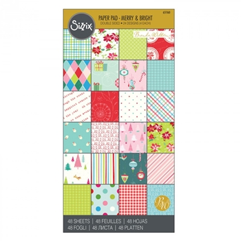 Sizzix MERRY AND BRIGHT 6x12 Cardstock Pad 651160