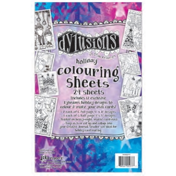 Ranger Dylusions HOLIDAY COLOURING SHEETS DYA52777