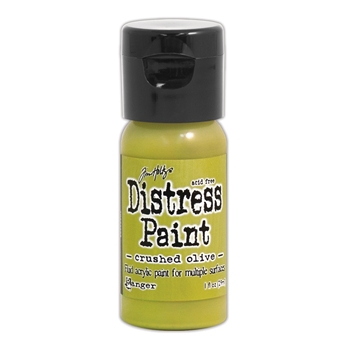 Tim Holtz Flip Top Distress Paint CRUSHED OLIVE Ranger TDF52999