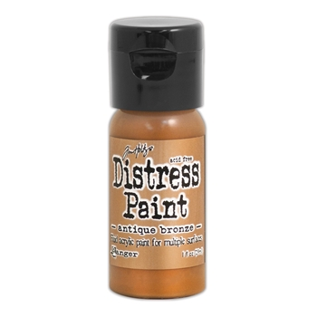 Tim Holtz Flip Top Distress Paint ANTIQUED BRONZE Ranger TDF52913