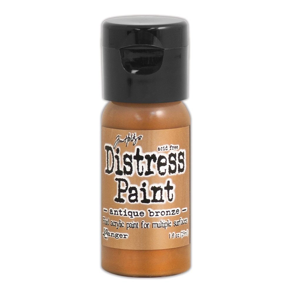 Tim Holtz Flip Top Distress Paint ANTIQUED BRONZE Ranger TDF52913 zoom image