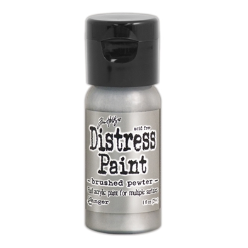 Tim Holtz Flip Top Distress Paint BRUSHED PEWTER Ranger TDF52968