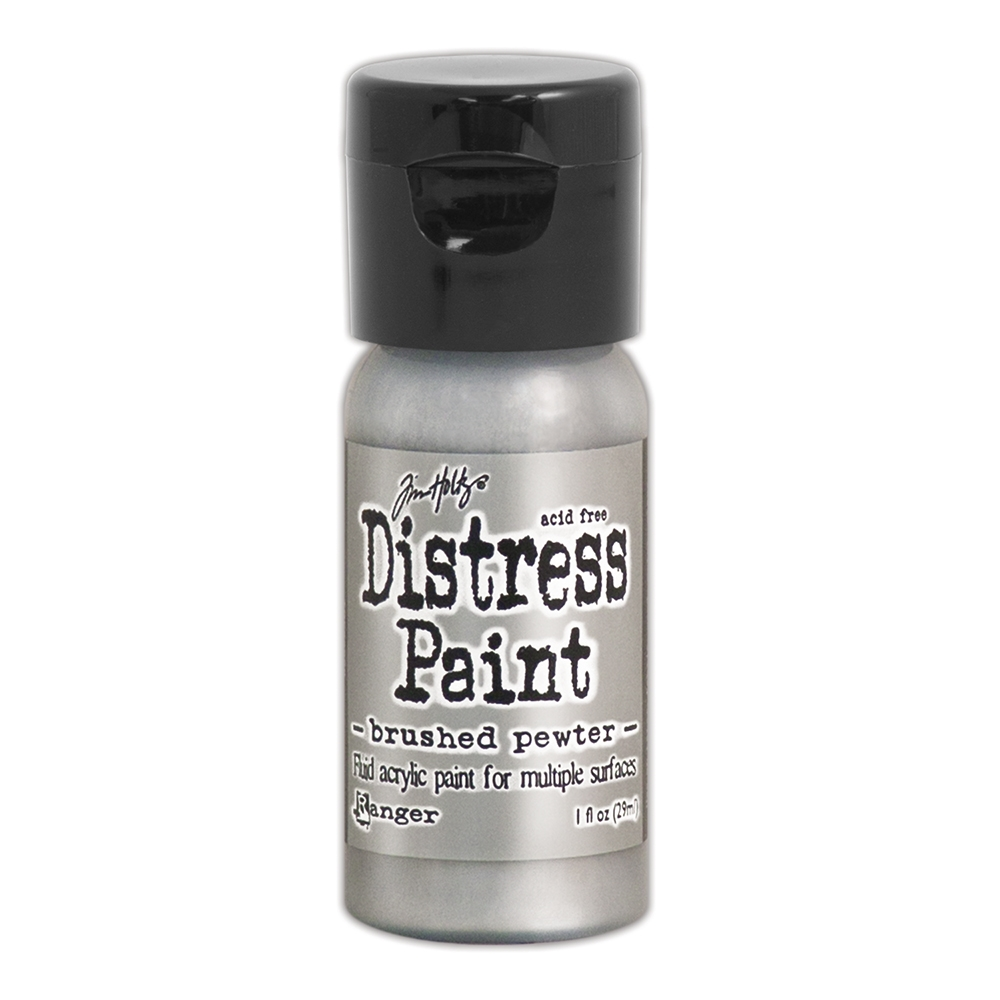 Tim Holtz Flip Top Distress Paint BRUSHED PEWTER Ranger TDF52968 zoom image