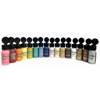 Tim Holtz FLIP TOP DISTRESS PAINT SET OF 16 Ranger RANGER95