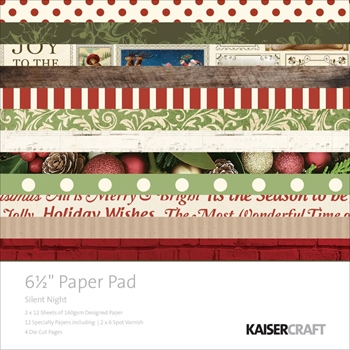 Kaisercraft SILENT NIGHT 6.5 x 6.5 Inch Paper Pad PP1004
