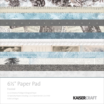 Kaisercraft FROSTED 6.5 x 6.5 Inch Paper Pad PP1005