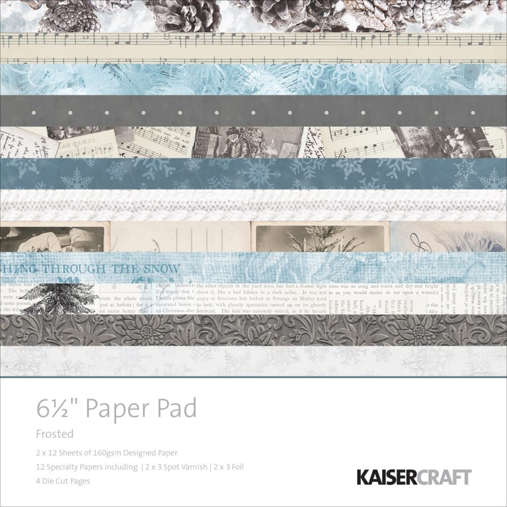 Kaisercraft FROSTED 6.5 x 6.5 Inch Paper Pad PP1005 zoom image