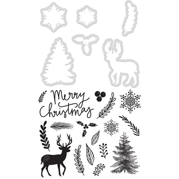 Kaisercraft MERRY CHRISTMAS Die and Stamp Set DD938