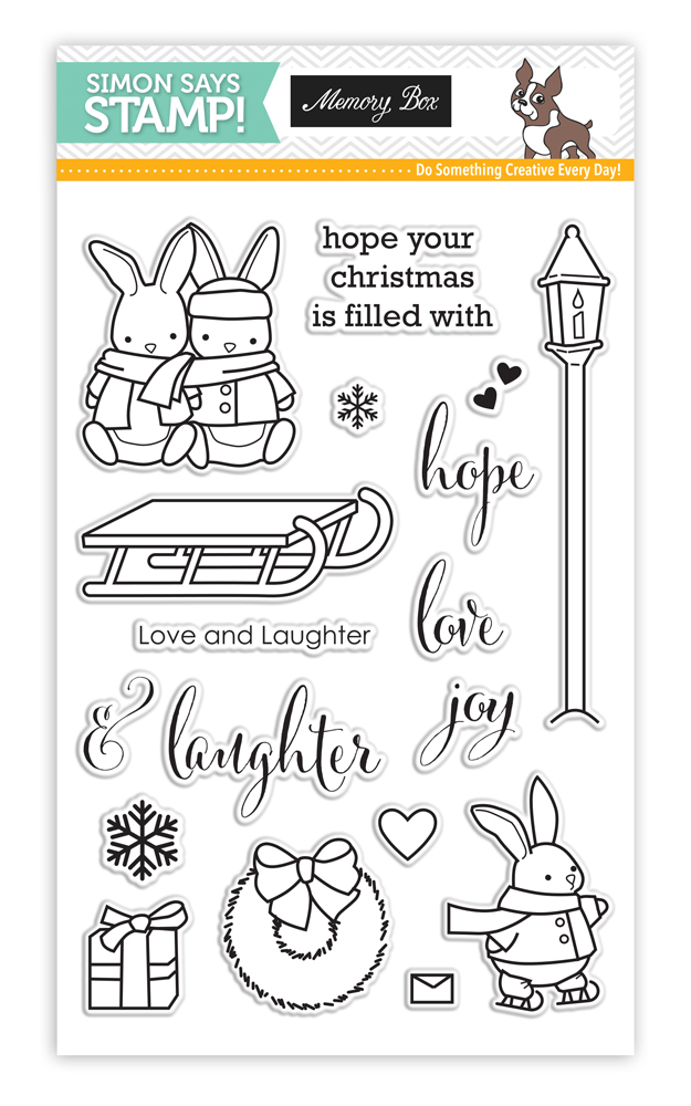 Memory Box Stamptember Stamp Set LOVE AND LAUGHTER sss101668 *