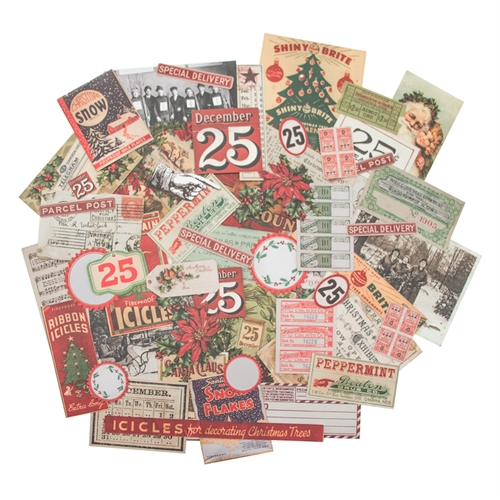 Tim Holtz Idea-ology CHRISTMASTIME Ephemera Pack TH93326 Preview Image