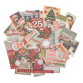 Tim Holtz Idea-ology CHRISTMASTIME Ephemera Pack TH93326