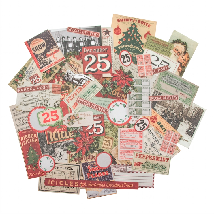 Tim Holtz Idea-ology CHRISTMASTIME Ephemera Pack TH93326 zoom image