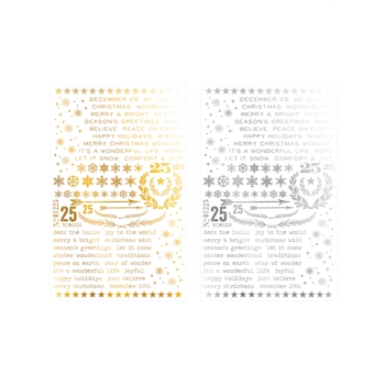 Tim Holtz Idea-ology GILDED CHRISTMASTIME Remnant Rubs TH93330