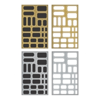 Tim Holtz Idea-ology LABELS Metallic Stickers TH93335