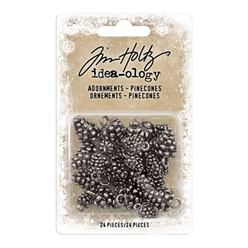 Tim Holtz Idea-ology PINECONES Adornments TH93633*