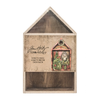 Tim Holtz Idea-ology VIGNETTE BOX HOUSE Structures TH93339*