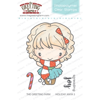 The Greeting Farm HOLIDAY ANYA 5 Clear Stamps TGF274
