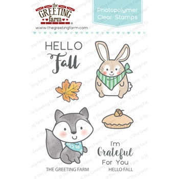 The Greeting Farm HELLO FALL Clear Stamps TGF270