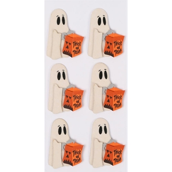 Little B TRICK OR TREAT GHOST Mini Stickers 102219