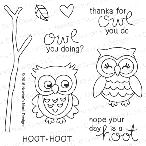 Newton's Nook Designs WHAT A HOOT Clear Stamp Set 20160904