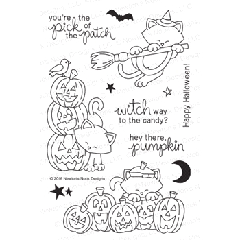 Newton's Nook Designs NEWTON'S BOO-TIFUL NIGHT Clear Stamp Set 20160902