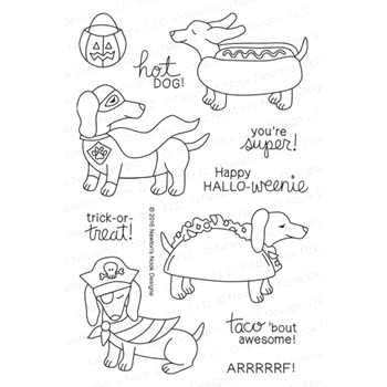 Newton's Nook Designs DRESS UP DOXIES Clear Stamp Set 20160901