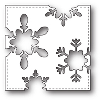 Memory Box STITCHED SNOWFLAKE SQUARE POPPY STAMPS Craft Die 1670