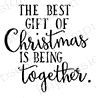 Impression Obsession Cling Stamp CHRISTMAS TOGETHER B13469 Preview Image