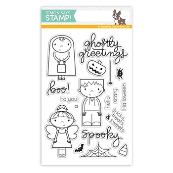 RESERVE Simon Says Clear Stamps GHOSTLY GREETINGS SSS101657