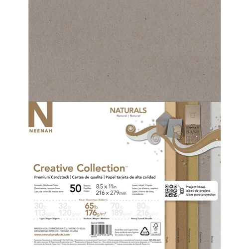 Neenah NATURALS Creative Collection Premium Cardstock 8.5 x 11 Assortment 99316 Preview Image