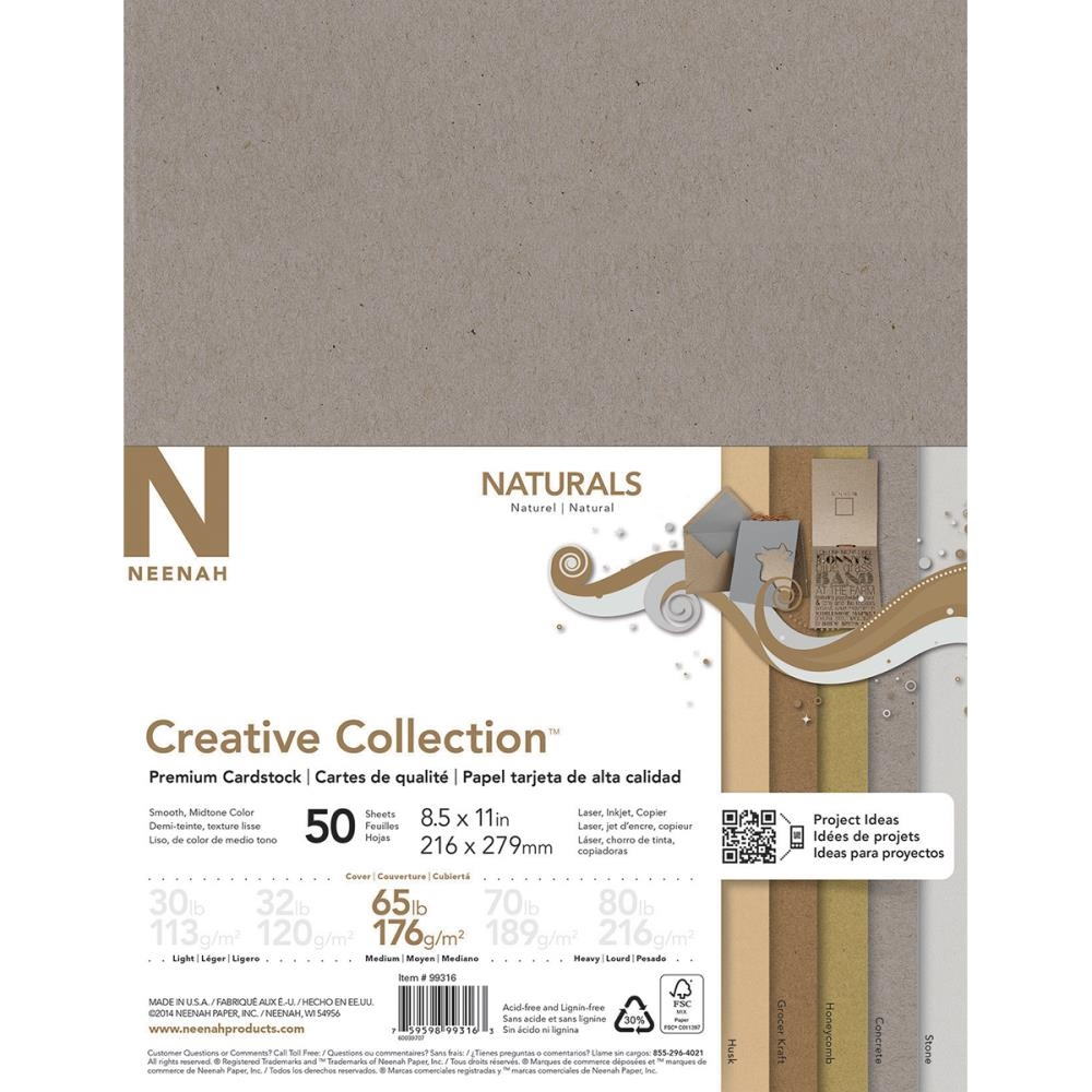 Neenah NATURALS Creative Collection Premium Cardstock 8.5 x 11 Assortment 99316 zoom image
