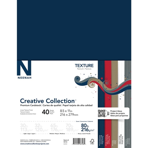 Neenah TEXTURE Creative Collection Premium Cardstock 8.5 x 11 Assortment 98726 Preview Image