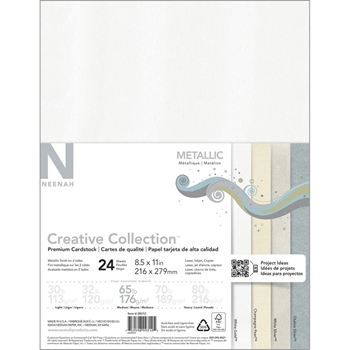Neenah METALLIC Creative Collection Premium Cardstock 8.5 x 11 Assortment 99312