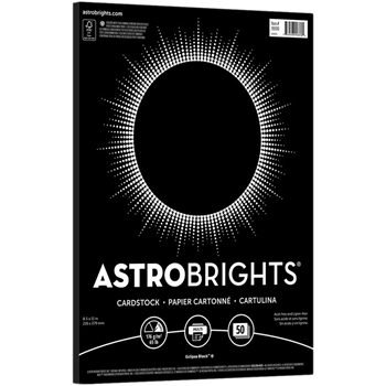Neenah ECLIPSE BLACK Astrobrights 8.5 x 11 Cardstock 99370