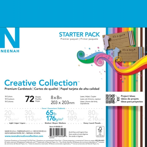 Neenah STARTER PACK Creative Collection Premium Cardstock 8x8 Assortment 46406-01 Preview Image