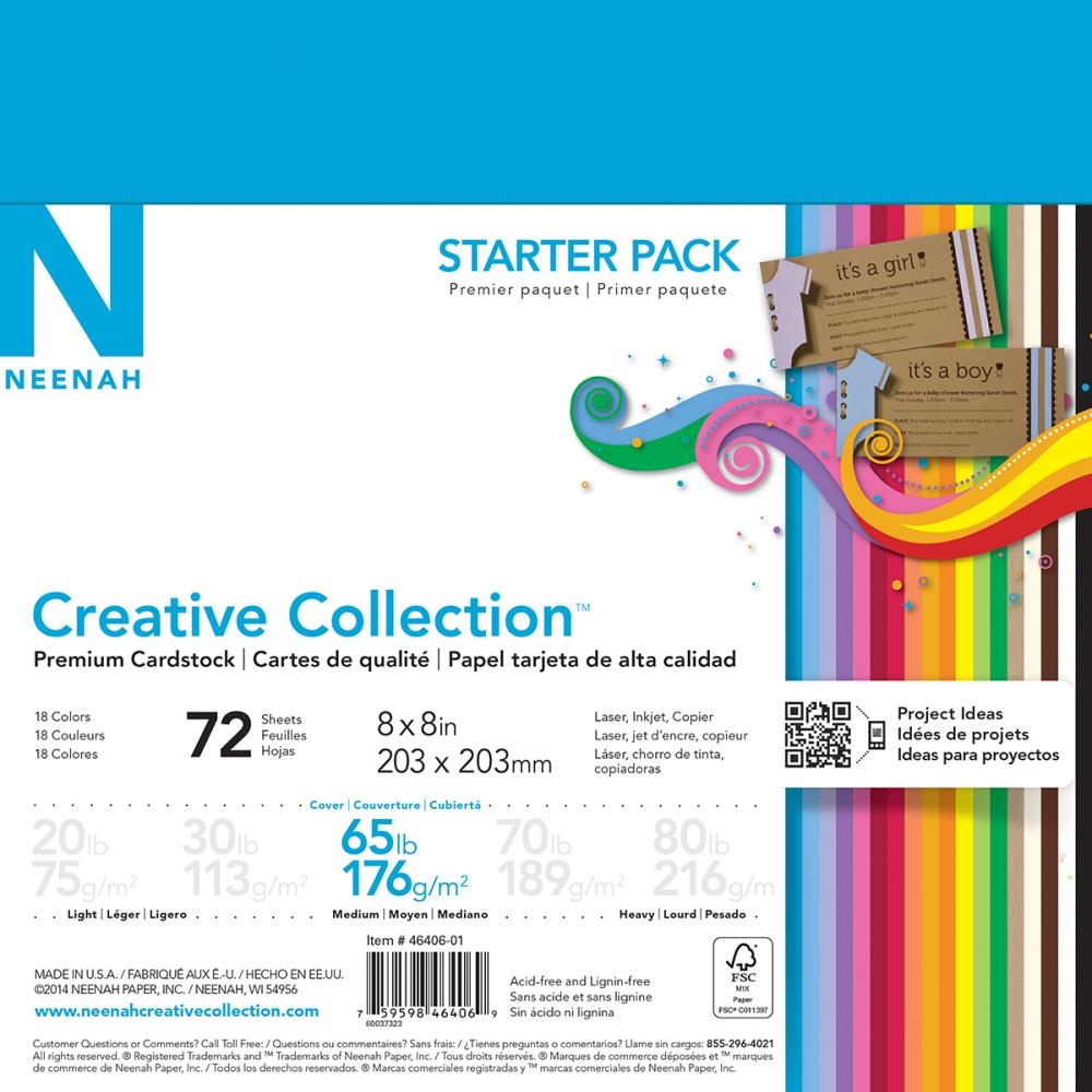 Neenah STARTER PACK Creative Collection Premium Cardstock 8x8 Assortment 46406-01* zoom image