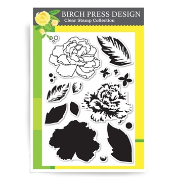 Birch Press Design DELICATE PEONY Clear Stamps CL8116