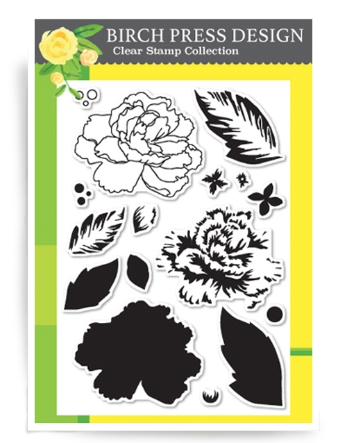 Birch Press Design DELICATE PEONY Clear Stamps CL8116 zoom image