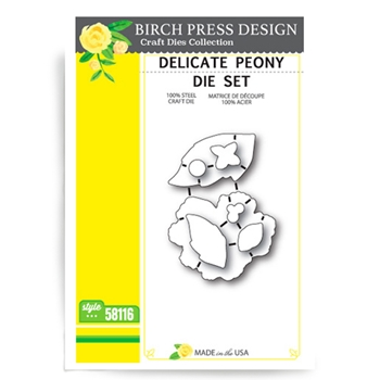 Birch Press Design DELICATE PEONY Craft Die 58116