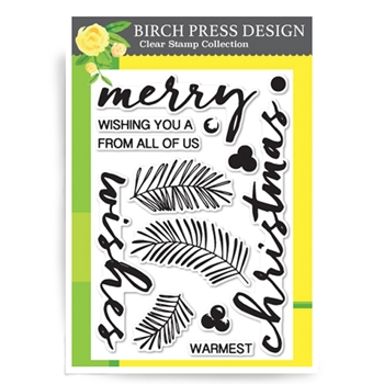 Birch Press Design BRUSHED CHRISTMAS GREETINGS Clear Stamps CL8115