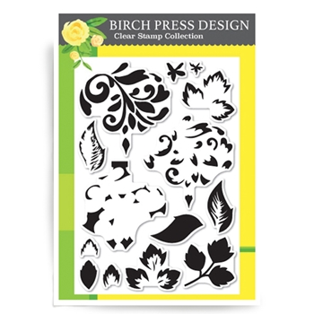 Birch Press Design FLOURISH ORNAMENT Clear Stamps CL8113