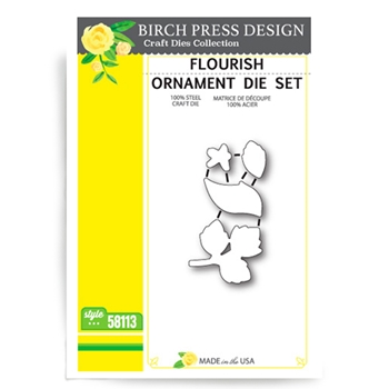Birch Press Design FLOURISH ORNAMENT Craft Die 58113